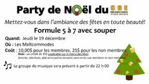 Party Noël 2019